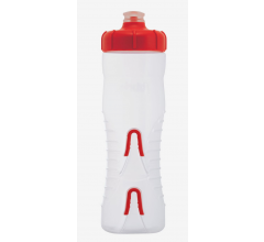 Fabric Bidon 750ML Cageless Transparant-Rood / Cageless Bottle CLR 750ml