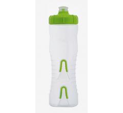 Fabric Bidon 750ML Cageless Transparant-Groen / Cageless Bottle CLG 750ml