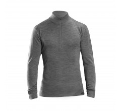 GripGrab Ondershirt Lange Mouwen Unisex Grijs - Merino Bamboo Half Zip Long Sleeve Base Layer Grey