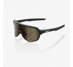 100% Fietsbril / S2 Flash Gold Lens  Matte Black