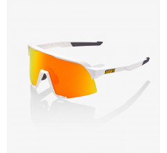 100% Fiets Zonnebril OP S3 Hiper Lens Soft Tact White