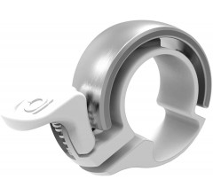 KNOG OI CLASSIC LARGE BIKE BELL - Wit/Zilver
