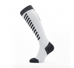 Sealskinz Fietssokken waterdicht voor Heren Grijs Zwart / Waterproof Cold Weather Knee Length Sock Grey/Black/Yellow
