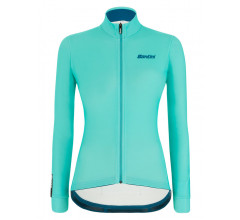 Santini Fietsshirt Lange mouwen Blauw Dames - Colore Winter L/S Jersey For Women Acqua Blue