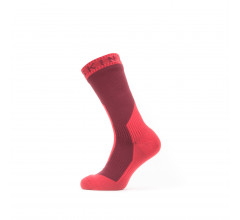 Sealskinz Fietssokken waterdicht voor Heren Rood  / Waterproof Extreme Cold Weather Mid Length Sock Red