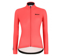 Santini Fietsshirt Lange mouwen Roze Dames - Colore Winter L/S Jersey For Women Granatina