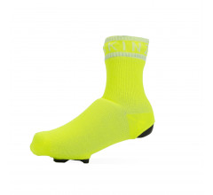 Sealskinz Fietssokken waterdicht voor Heren Fluo Wit / Waterproof All Weather Cycle Oversock Neon Yellow/White