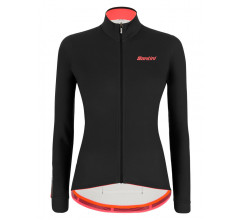 Santini Fietsshirt Lange mouwen Zwart Dames - Colore Winter L/S Jersey For Women Black