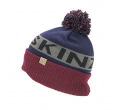 Sealskinz Casual muts  voor Heren Blauw Grijs / Water Repellent Cold Weather Bobble Hat Navy Blue/Grey/Red