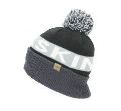 Sealskinz Casual muts  voor Heren Zwart Grijs / Water Repellent Cold Weather Bobble Hat Black/Grey/White/Black