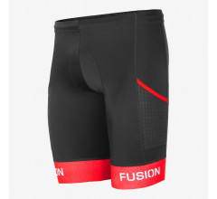 Fusion Triathlon broek zonder bretels Unisex Zwart / TRI PWR BAND POKT TIGHTS BLACK/RED