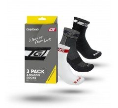 Gripgrab 4-Season Socks Bundle /  Fietssokken Zwart Wit