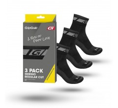 Gripgrab 3PACK Merino Regular Cut Socks /  Fietssokken Zwart