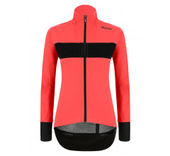 Santini Fietsjack lange mouwen Roze Dames - Guard Mercurio Rain Jacket For Women Granatina
