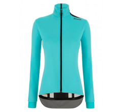 Santini Fietsjack lange mouwen Blauw Dames - Vega Multi Jacket For Women Acqua Blue