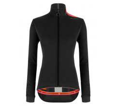 Santini Fietsjack lange mouwen Zwart Dames - Vega Multi Jacket For Women Black