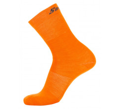 Santini Fietssokken winter Fluo Oranje Unisex - Wool High Profile Wool Socks Orange Fluo