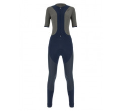 Santini Fietsbroek lang met bretels Blauw Dames - Vega Extreme Bib-Tights For Women Nautica Blue