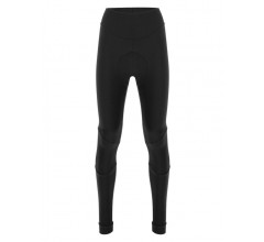 Santini Fietsbroek lang zonder bretels Zwart Dames - Alba Winter Thermofleece Tights For Women Black