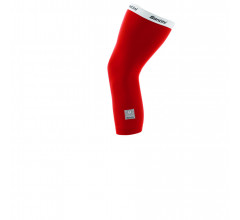 Santini Kniewarmers Rood Unisex - Totum Thermofleece Knee Warmers Red