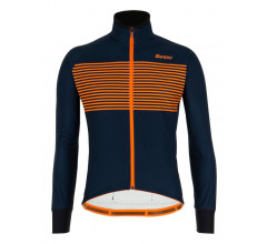 Santini Fietsjack lange mouwen Blauw Heren - Colore Winter Jacket Nautica Blue