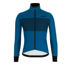 Santini Fietsjack lange mouwen Petrol Heren - Colore Winter Jacket Petrol Green