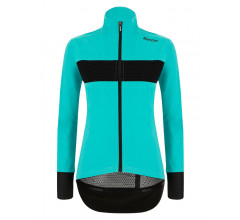 Santini Fietsjack lange mouwen Blauw Dames - Guard Mercurio Rain Jacket For Women Acqua Blue