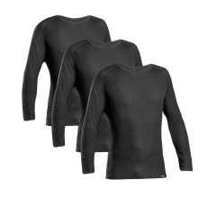 GripGrab Ondershirt Lange mouwen Zwart 3 PACK  / Ride Thermal Base Layer LS Black 3 PACK