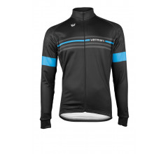 Vermarc Fietsshirt lange mouwen Heren Zwart Blauw / ATTACO Long Sleeves NEW - Black/Blue