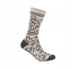 Le Patron Casual sokken Grijs Ecru / Bicycle socks light grey