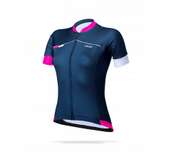 BBB Fietsshirt Dames Blauw Wit / Omnium-BBW-244