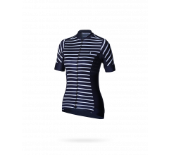 BBB fietsshirt dames blauw wit / Performance Womens Omnium SS Jersey Stripes Navy/White