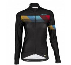 Vermarc Fietsshirt lange mouwen Dames Zwart / CHROMA Women Long Sleeves PR.R Black