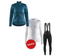 Craft fietskleding set dames winter IDEAL