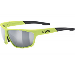 Uvex Fiets zonnebril Fluo Zilver Unisex - UV sportstyle 706 -Neon Yellow/Silver