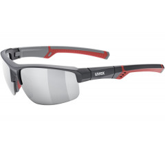 Uvex Fiets zonnebril Grijs Rood Unisex - UV sportstyle 226-Grey/Red/Silver
