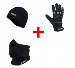 Helmmuts 21Virages & Fietshandschoen winter windstop MTB & facemask 21Virages