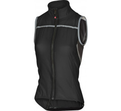 Castelli Windstopper Dames Zwart  / CA Superleggera W Vest Black
