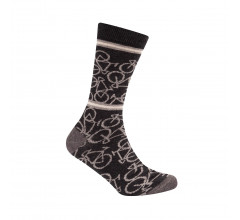 Le Patron Casual sokken Grijs Ecru / Bicycle socks dark grey
