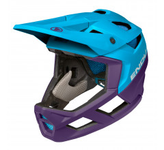 Endura Fietshelm MTB Unisex Blauw - MT500 Full Face Helmet Electric Blue