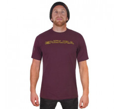 Endura Fietsshirt korte mouwen Heren Bordeaux / One Clan Carbon T-shirt - Mulberry