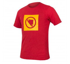 Endura Casual Fietskleding Heren Rood - One Clan Carbon Icon T Rood