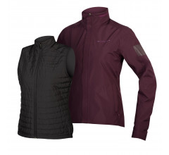 Endura Casual fietsjack Dames Paars / Dames Urban 3 in 1 Jas: Mulberry