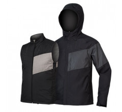 Endura Regen en Windjack Heren Zwart - Urban Luminite 3 in 1 Jacket II Black