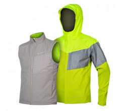 Endura Regen en Windjack Heren Fluo - Urban Luminite 3 in 1 Jacket II Hi-Viz Yellow