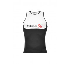 Fusion Triathlon top Heren Wit / MENS SLI TRI TOP WHITE/BLACK