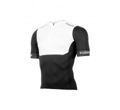 Fusion Triathlon top korte mouwen Unisex Wit / SLi TRI TOP SHORT SLEEVE WHITE/BLACK
