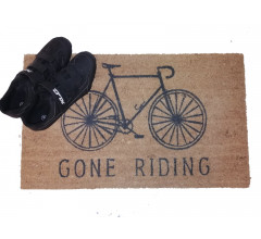Cycling Gifts Deurmat 'Gone Riding'