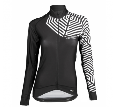 Vermarc Fietsshirt lange mouwen Dames Zwart Wit / GRAFICA Women Long Sleeves PR.R