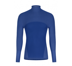 Megmeister Running High Neck Base Layer Blauw